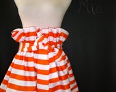 Striped Paper Bag SKIRT and SASH - Made in ANY Size - Boutique Mia