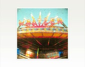 Carnival Photography, Retro Sign, Marquee Lights, Home Office Decor, Red, Orange, Retro Photography - Spinning Cars