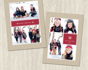 Christmas Collage Vol 2 Holiday Photo Card | Photoshop Templates | Great for Photographers or Scrapbookers | Instant Download | CS6026b