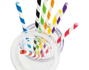 ADD-ON Candy Stripe Straw for 16oz Acrylic Tumbler cups