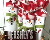 10 Snowman Candy Wrappers Christmas Gifts Party Favors