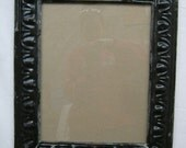TIN CEILING Black Metal Picture Frame 11 x 14  Recycled chic S 2157-14