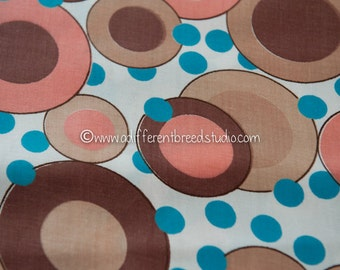 Fun Dots and Circles - Vintage Fabric Juvenile Whimsical New Old Stock 36 in wide