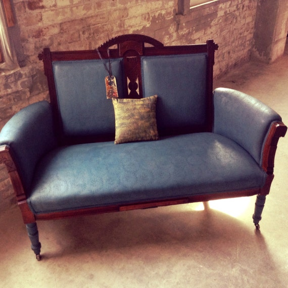 Antique LoveSeat French Country Couch Victorian Couch