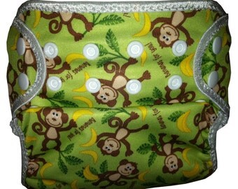 Monkeys PUL  Waterproof Cloth Diaper Cover