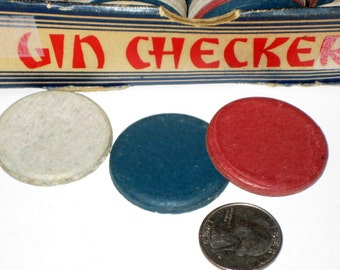 Vintage (1943) Game - Gin Checkers for Playing, Collecting or Altering