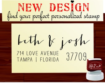 Custom Address Stamp  - Personalized SELF INKING stamp - Style 1185