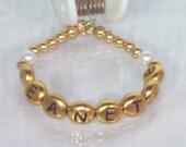 Newborn, Baby, Toddler, Child - Name & Birthstone Bracelet - Silver Keepsake - MADE TO ORDER
