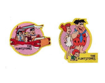 1970s Flintstones Iron On Transfer Appliques 2 Full Color