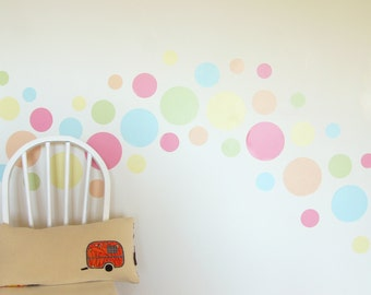 Summer Sorbet dots wall decal – fabric wall stickers