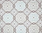Medallion Shower Curtain, Aqua Bathroom Decor, Grey Shower Curtain, Geometric Bathroom Accessories, Custom Fabric Shower Curtain