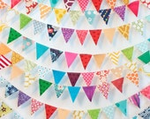 RAINBOw mini bunting *sold BY THE FOOT* party/photo prop