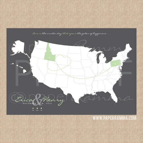 Map Art Wedding Gift : Wedding Map Art, Wedding World Map, Wedding Gift Map, Wedding ...