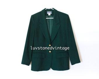 80s Pendleton Wool Warm Winter Prep Jacket Secretary Coat Fitted Blazer . ML . hanger . 935.1.15.15