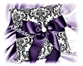 RESERVED LISTING Lapis and Madison damask wedding ring bearer pillow, wedding ring cushion.  Weddings decorations.