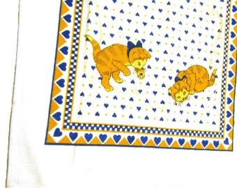 Tabby Cat Tea Towel Linen