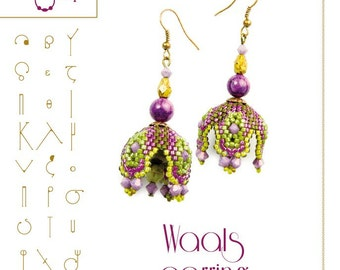 Earring pattern Waals earring beading pattern...PDF instruction for personal use only