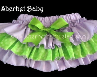 Lavender & Lime Sassy Pants Ruffle Bloomer Diaper Cover