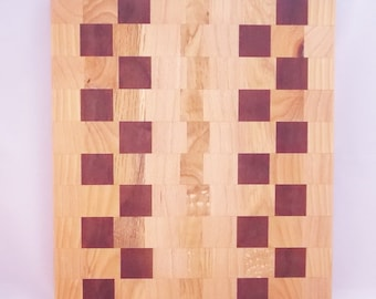 Mixed Woods Edge Grain Cutting Board Kitchen Decoration - 04 - In Stock Ready To Ship