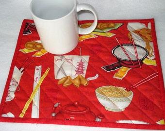 Quilted Mug Rug Snack Mat