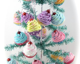 Fake Cupcake Ornaments Set of 25 Mini Cupcakes. Fab Decor For Candy Land Tree, Party Favors, Stocking Stuffers, Photo Props, 12 Legs Design