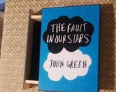 The Fault In Our Stars Book Jewelry Box - John Green -  Book Jewelry Box - TFIOS Book Box - Jewelry Box - The Fault in Our Stars Book Box