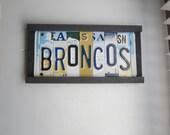 BRONCOS -  license tag sign