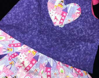 Reversible princess top and skirt sizes 1/2 or 3/4 years