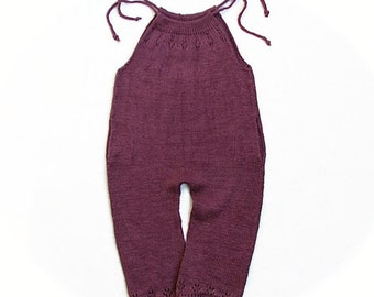 Pure Linen Knit Romper/Overall for Toddler Girl - 2T Ready to Ship