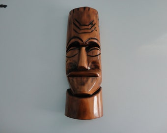 VINTAGE straight face WOOD MASK