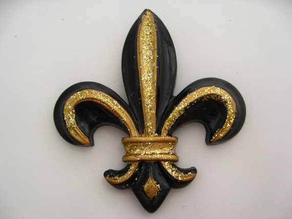 Fleur De Lis Christmas Ornament Saints Lack Gold By