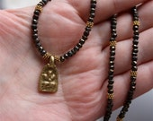18K Gold Vermeil Ganesh Spinel Talisman Necklace