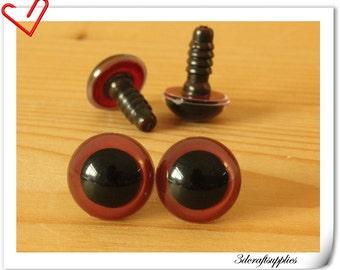 14 mm Black tea Toy eyes  Safety eye amigurumi eye doll eyes cat eye 14  pieces EB68