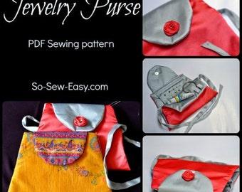 Purse pattern - Jewelry Purse - PDF Sewing pattern