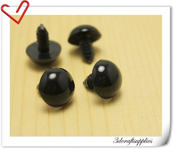 Doll Eyes For Amigurumi : 22mm black Safety eye amigurumi eye doll eyes cat eye 20