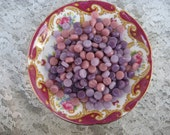 Itty Bitty Pretty Round Circle Mosaic Pieces PINK and PURPLE MIX Stained Glass Round Mosaic Tiles  7-8mm Mosaic Glass Tiles and Supplies