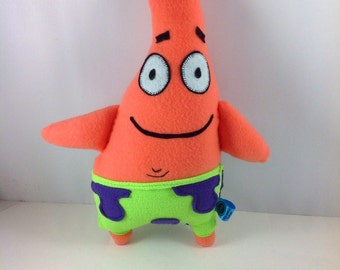 Patrick from Spongebob Square Pants -Made to Order Plush Toy.
