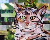 "Tabby Cat, 10""x7.2"" PRINT"