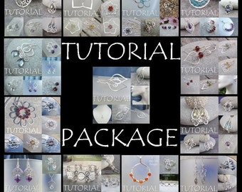 Wire Jewelry TUTORIAL PACKAGE - Buy any 5 tutorials for 20 dollars (DISCOUNT save 5 dollars) - Step by Step Wire Wrapping Wirework Lesson