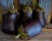 Primitive Folk Art Eggplant Pattern