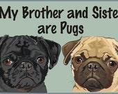 Black and Fawn Brother/Sister Pugs