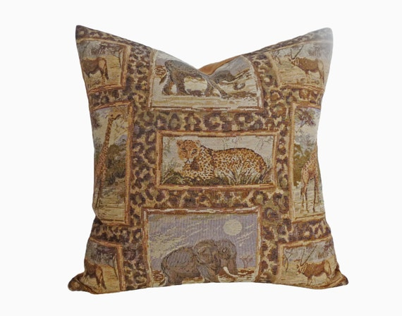 Safari Pillow Covers Tiger Throw Pillow Leopard Pillow Man
