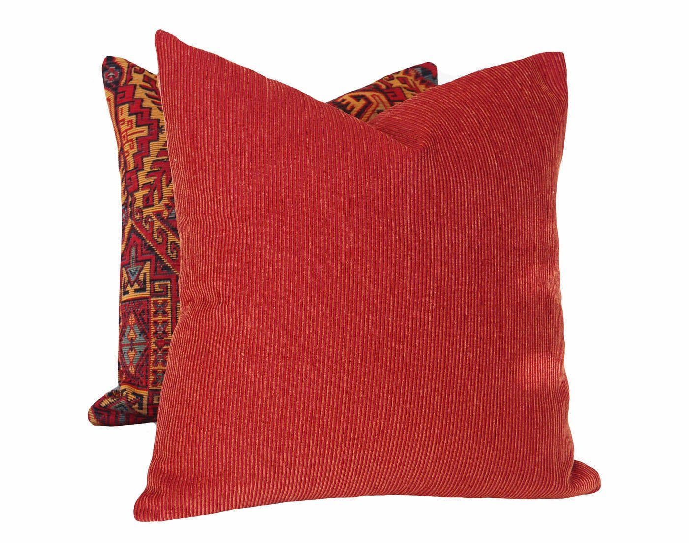 Rustic Red Pillow Covers Brick Red Pillows Southwestern