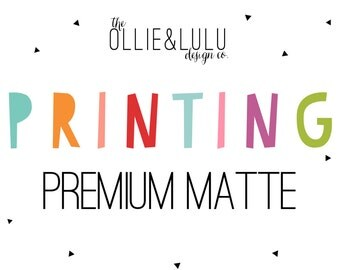 Professional Printing - Classic Matte