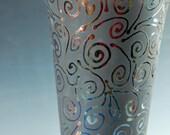Raku Pottery Swirl Vase