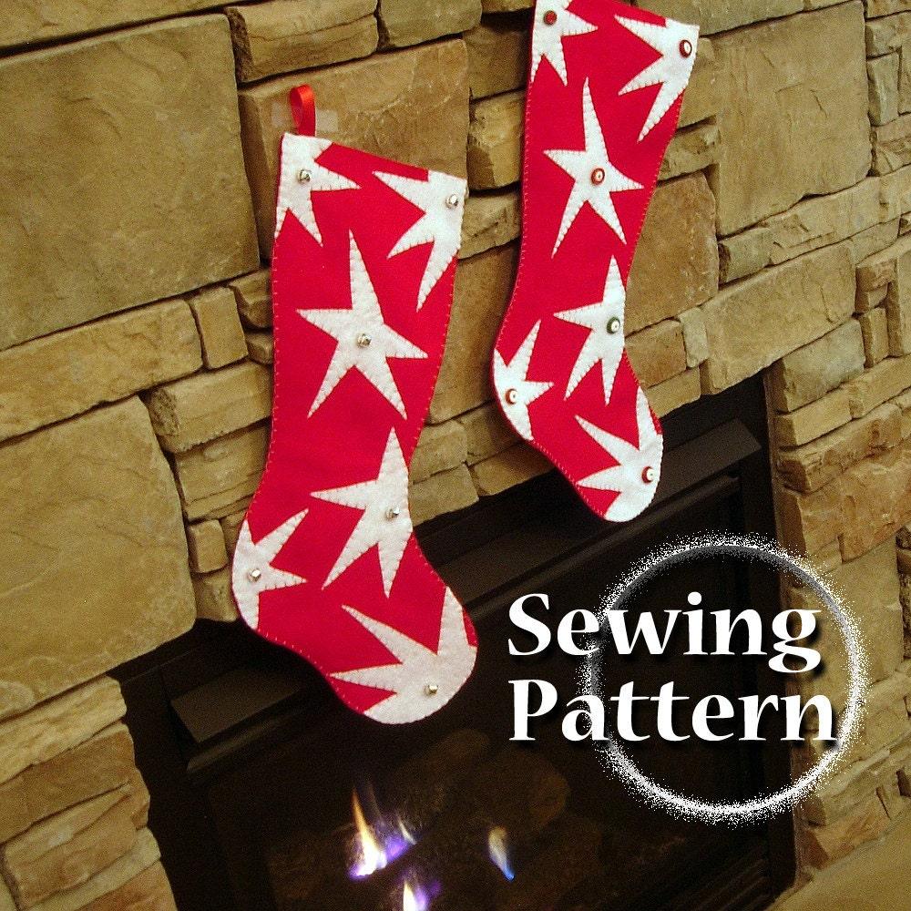 Extra Large Christmas Stocking pattern DIY Christmas
