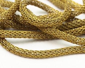 Brass Mesh Chain, 10m, 3mm Raw Brass Mesh Chain Ch0303 Z140