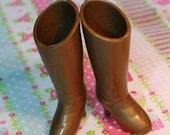 Blythe Bronze shimmer Heeled Doll Boots