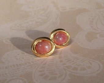 Post Earrings - Gold Filled with Fancy Jasper Cabochons