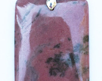 Rhodonite Rectangular Pendant